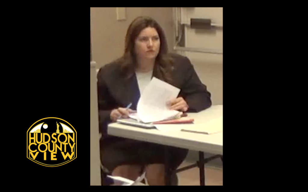 Christine Vanek serving as legal counsel at the June 17 Union City board of commissioner meeting.