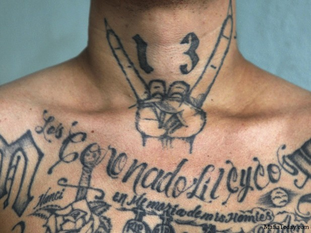 A former leader of the Mara Salvatrucha (MS -13) gang, poses during a photo session at Comayagua jail in Honduras June 11, 2011.  (Edgard Garrido/Courtesy Reuters