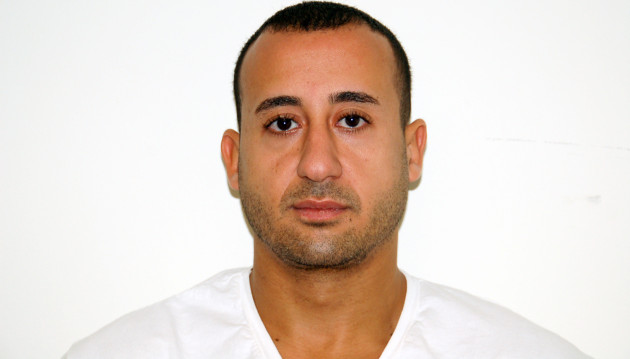 The mugshot of 32-year-old Guttenberg man Adam Hassan. Hassan pled guilty to an international car theft scheme on September 9, 2014. Photo courtesy of the New Jersey Office of the Attorney General.