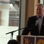 U.S. Rep. Albio Sires (D-8) speaks at Pre-K grand opening in Newark