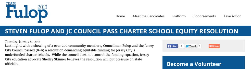 Fulop Charter School Appreciation
