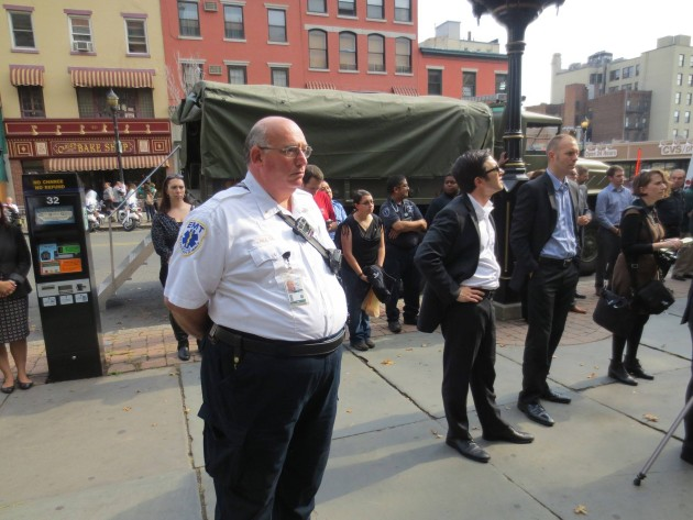 A Facebook photo of Tom Molta during Hoboken's 9/11 press conference this year.