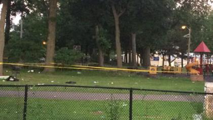Photo of Mercer Park via CBS New York.