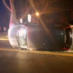 Reckless driver flips car, flees on foot after crash in North Bergen's Braddock Park
