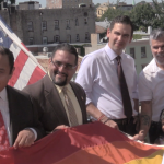 Jersey City Mayor Steven Fulop, council members raise LGBT flag at city hall