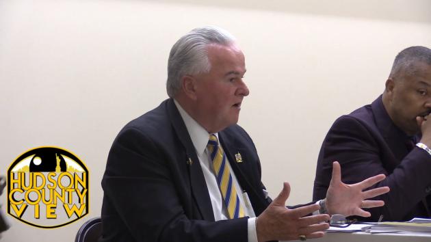 Jersey City OEM & Homeland Security Director W. Greg Kierce speaks at the Greenville Library on September 14.
