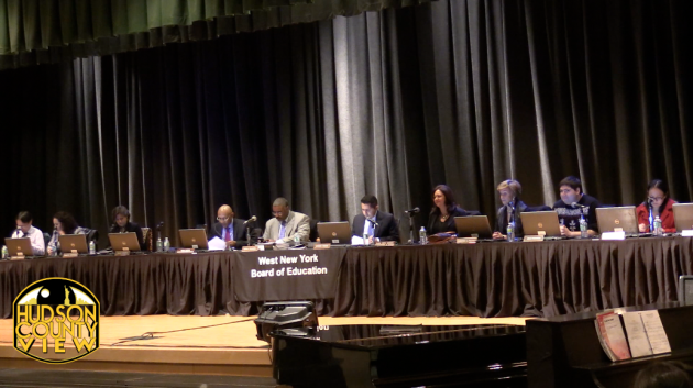 The West New York Board of Education, minus trustees Silvio Acosta and Joan Palermo.