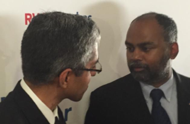 Sudhan Thomas (right). Facebook photo.