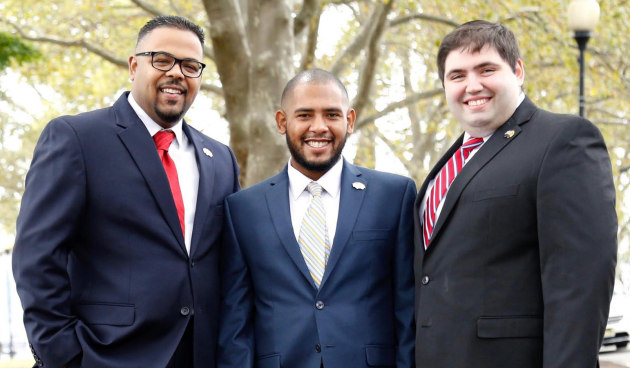 The Children First board of education team in West New York. From left to right: David Morel, Jose Alcantara and Adam Parkinson.