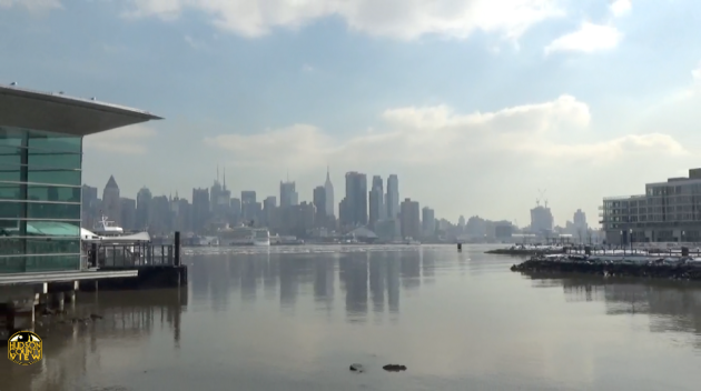A file photo of the Hudson River taken from the Port Imperial Ferry Station in Weehawken.