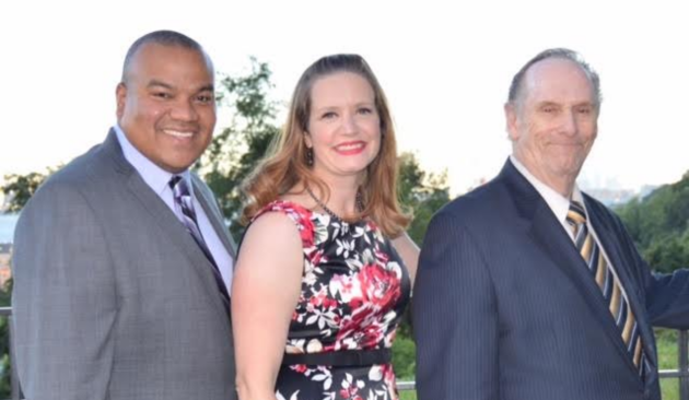 The West New York Save Our Schools BOE slate. Left to right: Alex Navas, Melinda Saunders and Ron Scheurle.