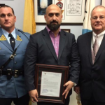 NJ State Police honor Hoboken's Texas Arizona for aiding after train crash