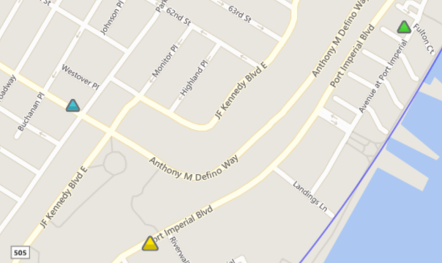 Screenshot of the PSE&G power outage map in West New York.
