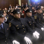 Hoboken welcomes 3 new cops, 1 new firefighter at joint ceremony