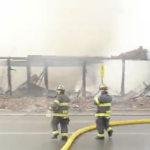 Dozens of firefighters battling 5-alarm blaze at North Bergen furniture store