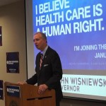 Gov hopeful Wisniewski shares 'Medicare for all system' in Jersey City