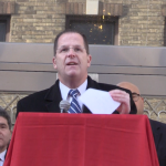 Stack calls Trump's immigration order 'a disgrace' in front of Union City mosque