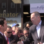 In front of Senate office, Stack endorses Jersey City Mayor Fulop for re-election