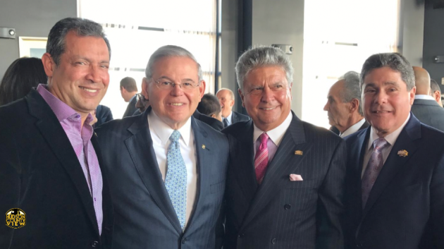 From left to right: Son Cubano CEO Alex Duran, U.S. Senator Bob Menendez (D-NJ), Mon Group Properties, Inc. President and CEO Dean Mon and West New York Mayor Felix Roque.
