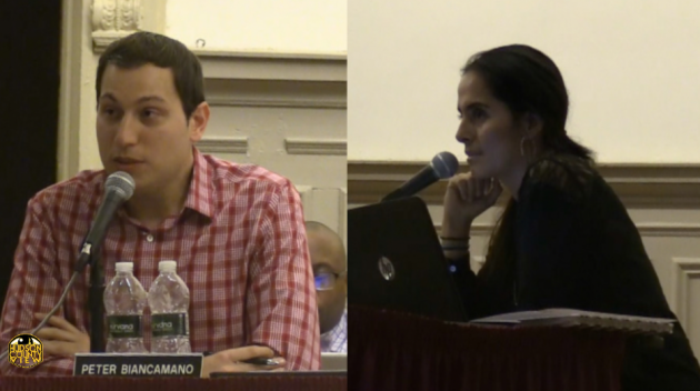 Hoboken Board of Education Trustee Peter Biancamano (left) won a court case to get board colleague Sheillah Dallara and her husband off the June 6 ballot for two Democratic committee seats.