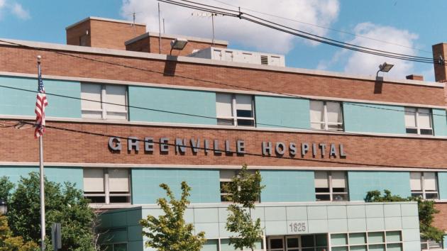 A 2007 photo of the Greenville Hospital in Jersey City, which closed in 2008.