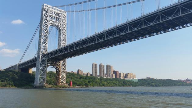 The George Washington Bridge. Photo via findingnyc.com.