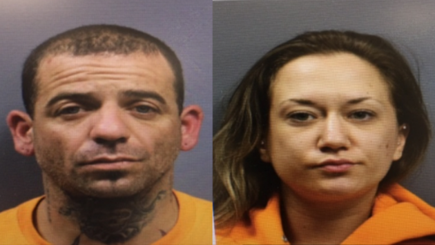 Gerard Grossi and Jessica Skinner were arrested on gun possession charges in Secaucus. Photos courtesy of Secaucus police.
