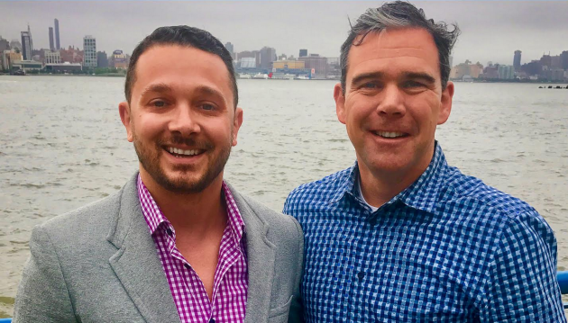 Michael Flett (right) is the first announced member of Mike DeFusco's council slate. Photo courtesy of the DeFusco campaign.