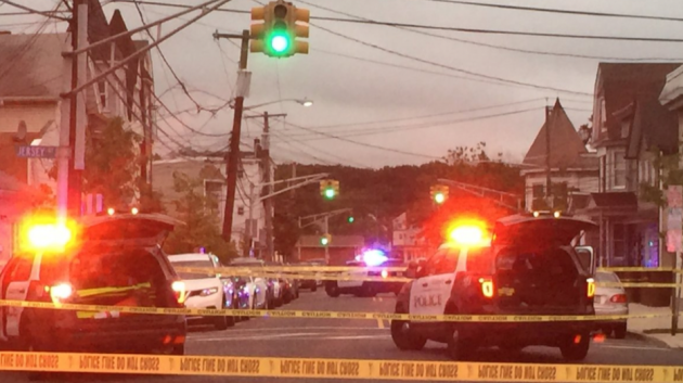 A Harrison police officer fired shots at a suspect after he hit the officer with his car early this morning. Photo via RLS Metro Breaking News.