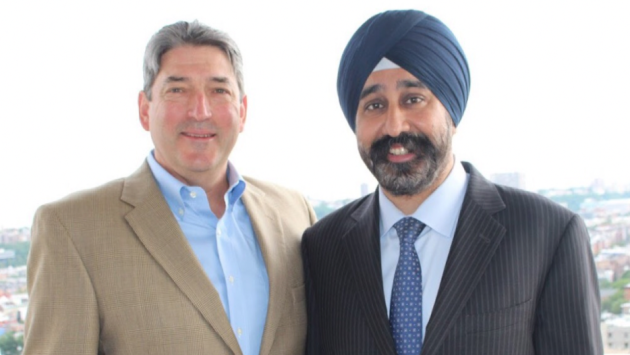 Hoboken Councilman-at-Large James Doyle (left) is seeking re-election with colleague Ravi Bhalla - who is pursuing the mayor's seat. Photo courtesy of the Bhalla campaign.