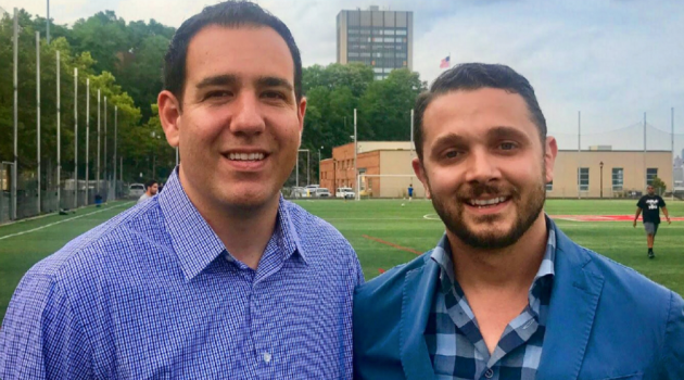 Hoboken mayoral hopeful Mike DeFusco (left), the 1st Ward councilman, has named basketball coach Andrew Impastato as the second council candidate on his ticket. Photo courtesy of the DeFusco campaign.