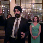 At fundraiser, Bhalla vows to protect Hoboken from developers if elected mayor