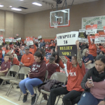 Jersey City teachers storm BOE meeting after 4 months without a contract