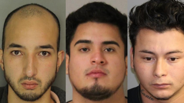 From left to right: David Gualteros, Erick Leon-Farinango and Evin Ferman-Argueta. Photos courtesy of Hudson County Prosecutor's Office.