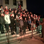 Hundreds gather at Weehawken Town Hall for annual Christmas Tree lighting