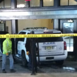 No injuries after stolen NJ Transit police SUV driven into Hoboken Terminal