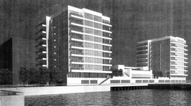 An artist's rendering of the Monarch project. Photo via Fund for a Better Waterfront.