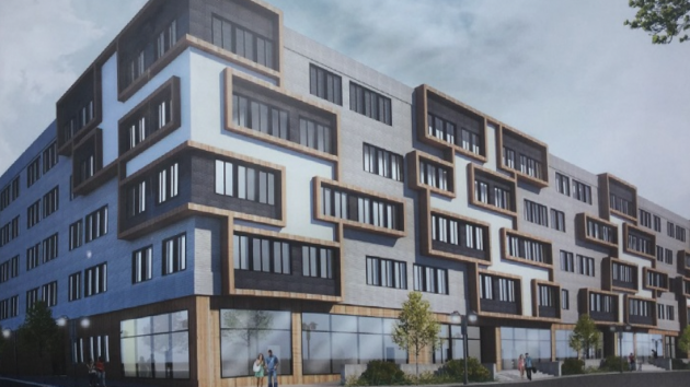 An artist's rendering of the Bayview luxury apartment complex. Photo courtesy of the City of Bayonne.