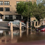 Massive Guttenberg water main break slowing down traffic in North Hudson