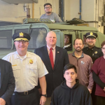 Bayonne BOE, police, acquire military Humvee for high school students to restore