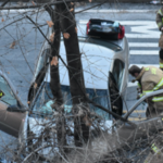 Car crash on perilous Jersey City road sends two to the hospital, authorities say