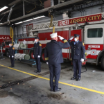 Jersey City has 'battlefield promotion' for 6 newly sworn in firefighters