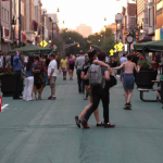 Jersey City reveals plans to expand Newark Ave. Pedestrian Plaza for patrons & pedestrians